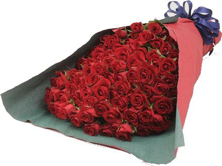 100本の赤い薔薇